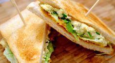 Veganes Eiersalat Sandwich