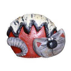 Spardose aus Keramik Katze Handarbeit   eBay