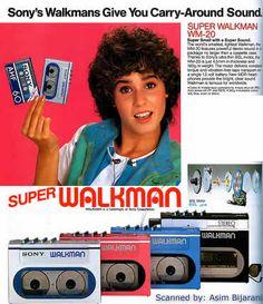 Sony Walkman print advertisement