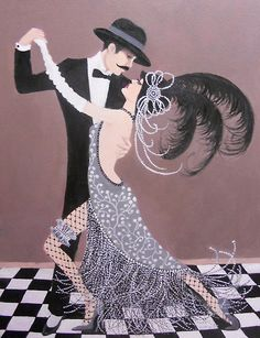 ART DECO DANCERS by Dian Bernardo. #dance