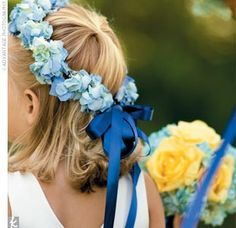 i'm thinking i want our flower girl to have a crown of flowers like me.
