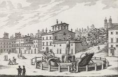 Giovanni Battista Falda (Italian, 1643–1678). Fontana nella Piazza della Trinita de Monti from Le Fontane di Roma nelle Piazze e Luoghi Publici, 1691 or after.