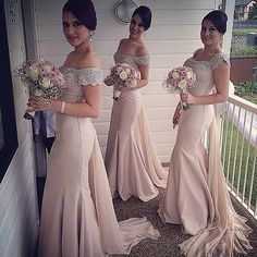 Gorgeous Bridesmaids | @rodeodriveboutique @tarikedizofficial #bridesmaids…