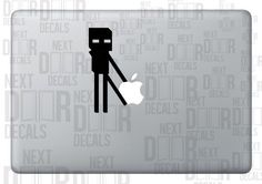 Minecraft Enderman Apple Laptop Sticker Decal. $6.99, via Etsy. IF I EVER GET A MAC I AM GETTING THIS HOLY SHIT
