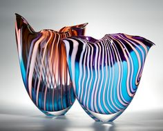 "Peter Layton ~ David Hockney inspired glass art ~  ""Felled Trees"""