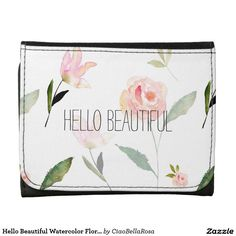 Get yourself a new Floral wallet from Zazzle. Shop our amazing selection and find the perfect wallet or money clip to hold your cash! Leather Wallets, Hello Beautiful, Floral Watercolor, Pink, Leather Purses, Men's Leather Wallets