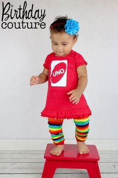 UNO First Birthday Girl Dress in Red - Fun, Unique Outfit for her first birthday - Excellent Photo Prop Birthday Girl Dress, Girl First Birthday, Baby Birthday, First Birthday Parties, Halloween Theme Birthday, Birthday Photos, Birthday Party Themes, Birthday Ideas, Getting Ready For Baby
