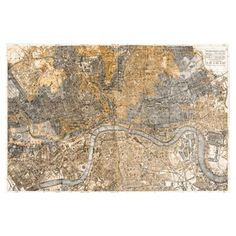London 1883 Map Canvas Print, Oliver Gal