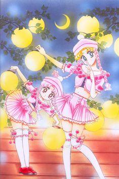 Chibi Moon and Sailor Moon of Naoko Takeuchi