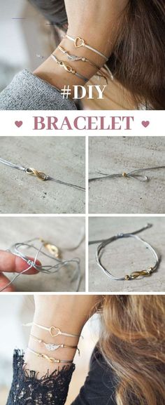 Create simple diy bracelets with slide closure by yourself with this easy tutorial! Bracelets Simple DIY bracelets with slide closure Diy Jewelry Rings, Diy Jewelry Unique, Diy Jewelry To Sell, Diy Bracelets Easy, Diy Jewelry Making, Bracelets For Men, Beaded Jewelry, Diy Jewellery, Gold Bracelets