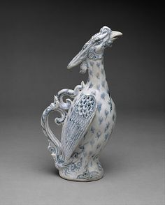 Ewer in the Form of a Phoenix Date: ca. 15th–16th century Culture: Vietnam Medium: Stoneware with underglaze cobalt blue decoration