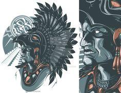 Aztec Warrior by Daver2002ua.deviantart.com on @DeviantArt