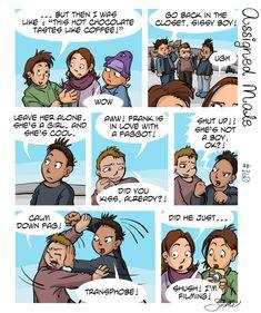 This is how biggots should be treated. Lgbt Quotes, Lgbt Memes, Funny Memes, Assigned Male Comics, Transgender Comic, Online Comics, Lgbt Love, Short Comics, Cute Gay