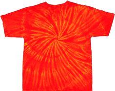 Fire spiral tie dye tees