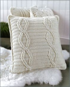 Picture of Aran Pillows to Crochet
