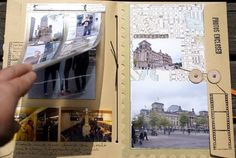 Inspiration - Buch aus Umschlägen und Papier zusammengebastelt und verschönert