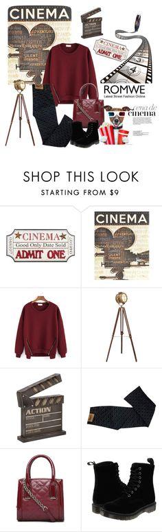 """Cinema Romwe"" by danigrll ❤ liked on Polyvore featuring moda, Dot & Bo, CENA, Dolce&Gabbana, Bebe e Dr. Martens"