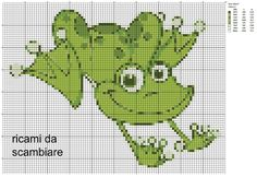 Zz Embroidery Art, Cross Stitch Embroidery, Embroidery Designs, Cross Stitch Charts, Cross Stitch Patterns, Beading Patterns, Crochet Patterns, Frog Crafts, Canvas Designs