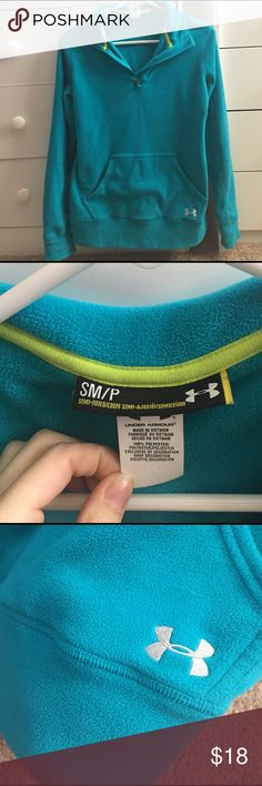 Blue UA pullover Excellent condition. No stains. Under Armour Jackets & Coats