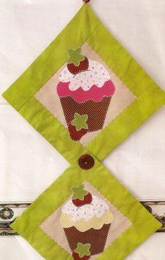 patchwork cupcake na cozinha