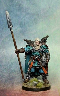 """Best quality I've seen for this Blood Rage warrior. Perhaps a little more contrast in the two tones of blue would help add more """"pop"""" to it."""