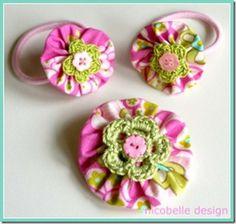 How to Crochet a Puff Flower - Crochet Ideas Awesome fabric bow tutorials! How to Crochet a Puff Flower - Crochet Ideas Awesome fabric bow tutorials! Crochet Puff Flower, Crochet Flower Patterns, Crochet Flowers, Crochet Ideas, Fabric Flower Headbands, Fabric Bows, Fabric Flowers, Fabric Crafts, Sewing Crafts