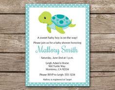 Cute sea turtle birthday invitation diy more pinterest rsvp filmwisefo