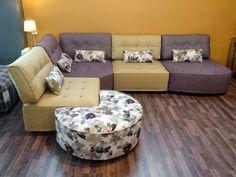 Γωνιακός καναπές Puzzle Living Room Furniture, Ottoman, Puzzle, Couch, Chair, Home Decor, Lounge Furniture, Puzzles, Settee