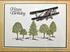 Green Tree Tops for Lovely As A Tree - JanB UK Stampin' Up! Demonstrator Independent - YouTube