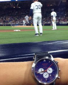 The Patriot up close watching the Padres knock the Rockies out of a play off spot. #wheresyourwingman #petcopark #padres #customwatch