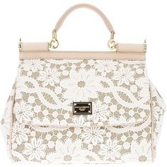 DOLCE and GABBANA Lace Print Tote. This purse is so cute and so far out of my budget. A girl can dream :-) Handbags Michael Kors, Purses And Handbags, Leather Handbags, Burberry Handbags, Small Handbags, Dior, Floral Tote Bags, Lace Print, Linen Bag