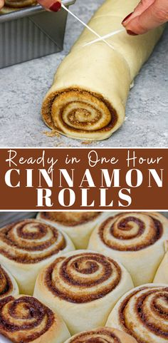 Homemade Cinnamon Rolls: Ready in 1 Hour These quick yeast cinnamon rolls are ready in 1 hour and are soft and fluffy, with gooey centers! They're frosted with a cream cheese icing that is to die for Baking Recipes, Dessert Recipes, Cake Recipes, Delicious Desserts, Yummy Food, Tasty, Simple Muffin Recipe, Snacks, Rolls Recipe