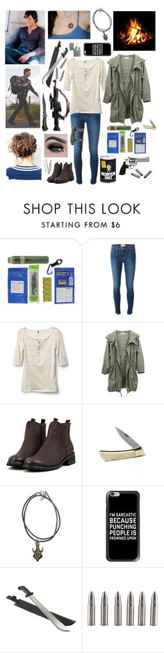 """""""""""Dad's been on a hunting trip. Hasn't been home in a few days.""""#329"""" by tkcostner ❤ liked on Polyvore featuring Frame Denim, Quiksilver, Revolver, Blackbird, Casetify, RIFLE, Zippo, supernatural and spn"""