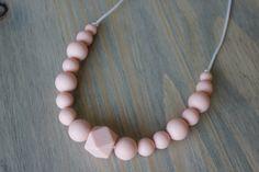Silicone chew necklace / wood beads / chew beads / door FlyLilBird