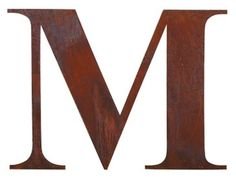 Rusted metal letter for garden
