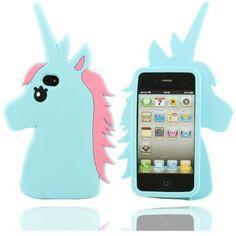 Effacer Design Mignon Shape Cartoon unimon Unicorn Soft Cover Etui Coque de protection case pour Apple iPhone 4 4S 4G