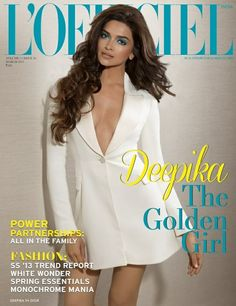Deepika Padukone on The Cover of L'Officiel Magazine - March 2013.