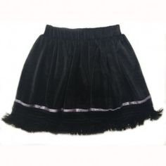 Fusta din catifea cu ciucuri negri Cheer Skirts, Girl Outfits, Velvet, Satin, Silk, Elegant, Cotton, Clothes, Women