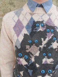 Cat sweater . simply the most disturbing sweater EVER MADE!!!