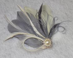 gray feather plumes   Hardware Style: Select an option Hair Clip (Default) Small/Large Comb ...