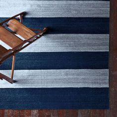Camden Stripe Handwoven Rug in 3 sizes from west elm
