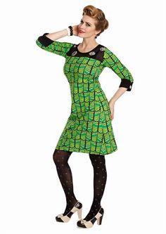 Margot kjole KINDRED SPIRIT no 767 / dress MargotMWMwear W16 vinternyheder 2016 King Louie, I Dress, Hosiery, Designer Dresses, Tunic, Sewing, My Style, Lady, Winter
