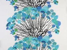 Vappukukka Turquoise Curtain Panel
