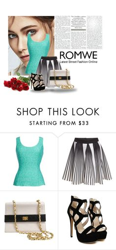 """""""romwe"""" by belma-bella ❤ liked on Polyvore featuring Thalia Sodi, Chanel, women's clothing, women, female, woman, misses and juniors"""