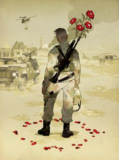 Illustrator Tomer Hanuka, this is a great one to remember around Veteran's Day.