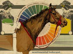 Sentimental by Susan Murtaugh - An 80's race horse in drawing scanned in and rebooted in #SketchBookPro // #MobileDigitalArt #iPadArt