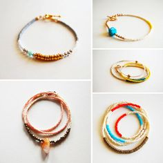 Love these seed bead bracelets