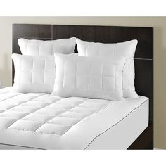 Maison Luxe Ultimate Comfort \u0026 Support Luxury Pillow Top Mattress Pad - Overstock™ Shopping -