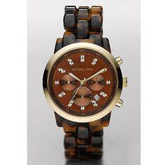 Michael Kors Ladies' Oversized Tortoise Watch In Brown - Beyond the Rack