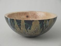 Wooden Artistic Bowl Spalted Ash With by deadtreewoodworks on Etsy